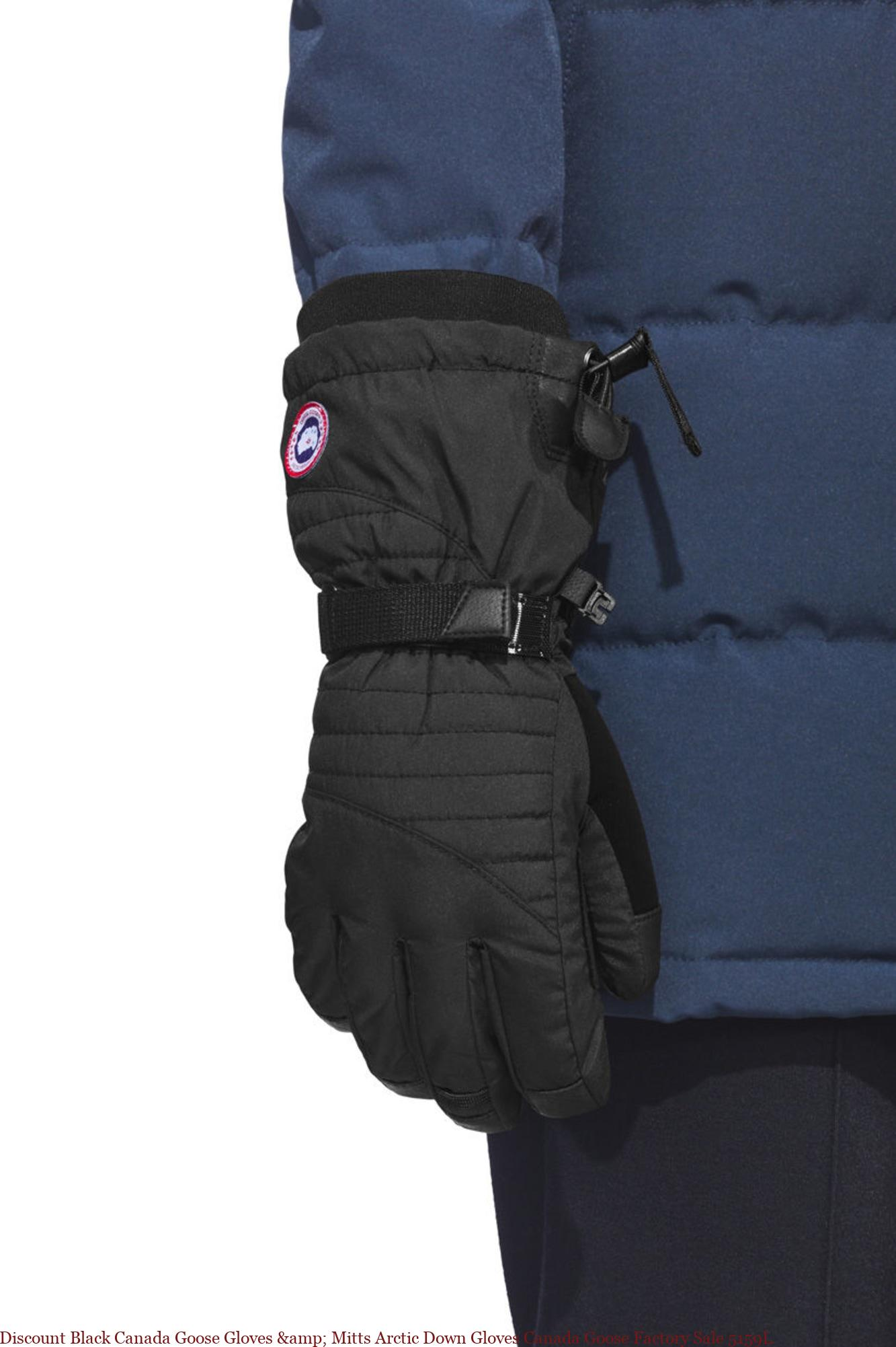 Discount Black Canada Goose Gloves Mitts Arctic Down Gloves Canada Goose Factory Sale 5159l