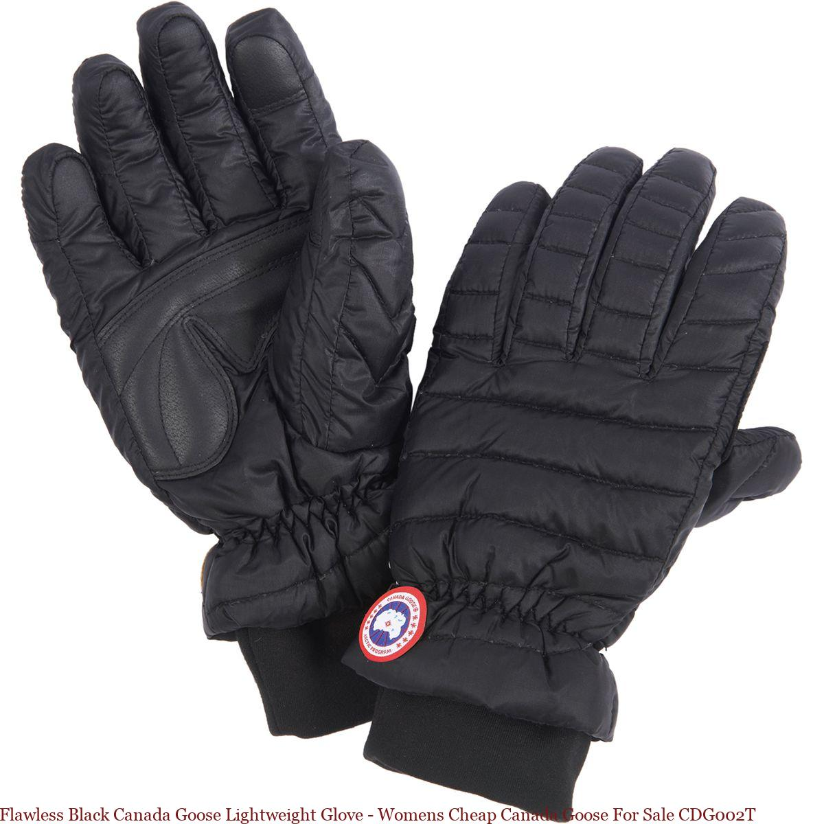 Flawless Black Canada Goose Lightweight Glove Womens Cheap Canada Goose For Sale Cdg002t