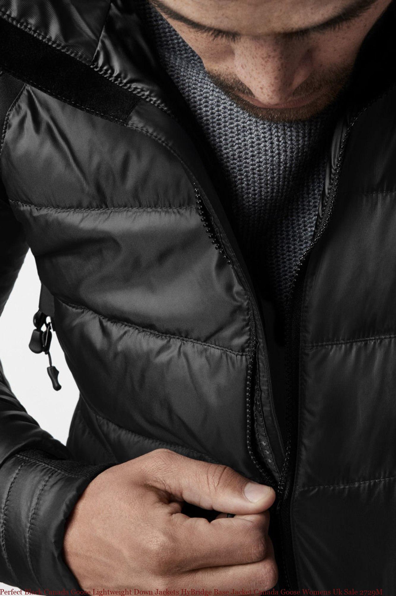 3e839b850 Perfect Black Canada Goose Lightweight Down Jackets HyBridge Base Jacket  Canada Goose Womens Uk Sale 2729M